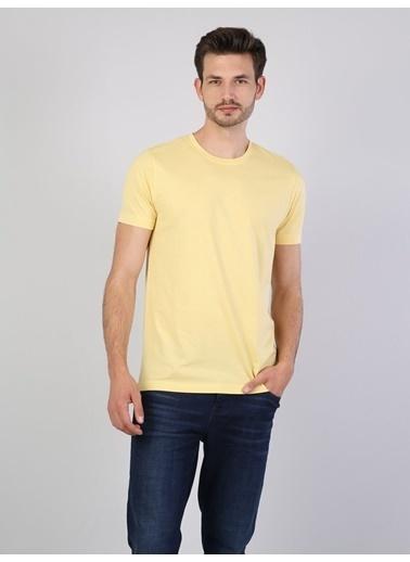 Colin's Bisiklet Yaka Tişört Sarı
